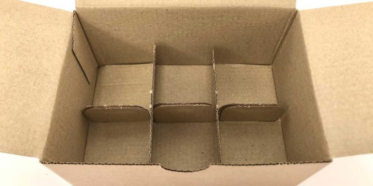 6 Egg Corrugated Cardboard Egg Box