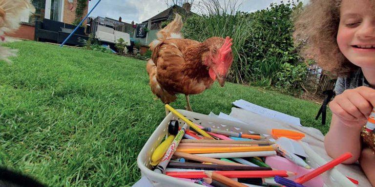 Lydia & Rose enjoying colouring fun