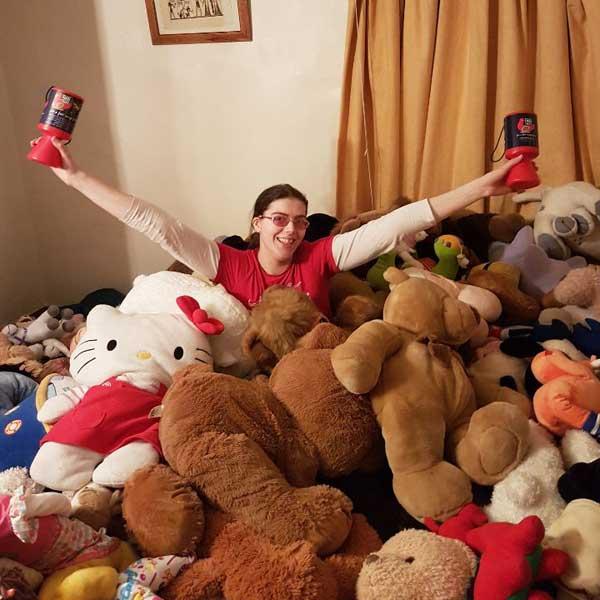Megan Huskisson in Her Stock Room