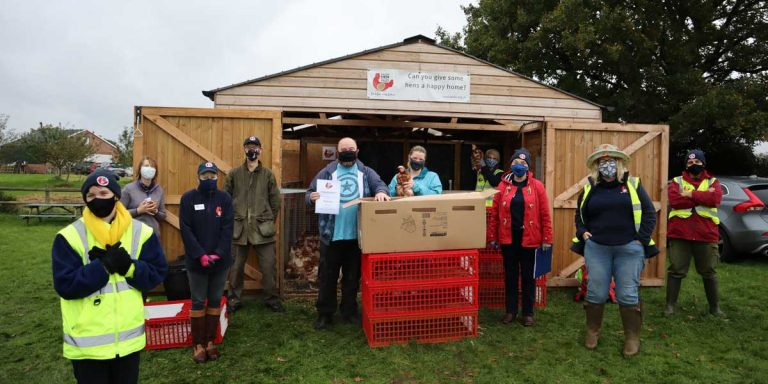 Cheshire Team's 10,000th Hen