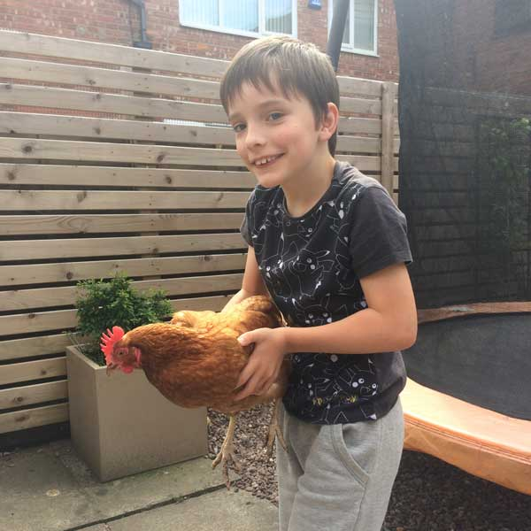Antony With His Hen